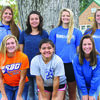 Front, left to right: Chloe Taylor, Kiarra Mai, Jacque Reid. Back: Cheyanne Melton, Macy Wilson, Taylor Burns and Sadie Fare.