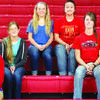 Left to right: Freshman, Annabelle Pearson; sophomore, Lisa Colley; junior, Lynna Hadlock; and seniors, Katie Whitley, Bailey Smith and Cierra Justice.