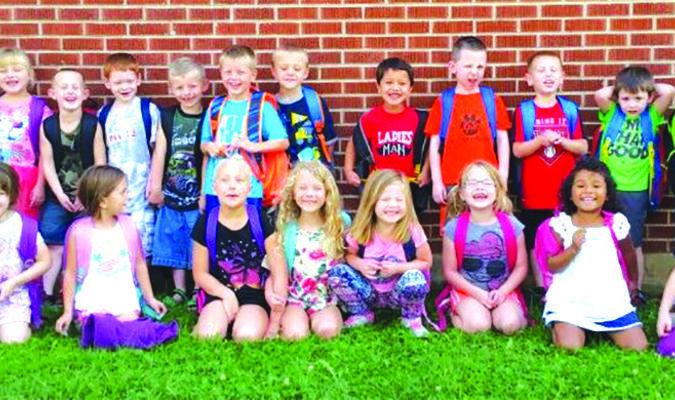 The kindergarten class at Walnut Grove for school year 2016-17. Sent in by Cathy Kelley, secretary at Walnut Grove Elementary.