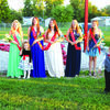 Queen Lynna and her royal court