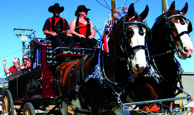 Weather permitting, Chuck Lewter and his Clydesdales will appear in the Greenfield Christmas parade.
