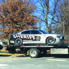The Greene County Sheriff's car was damaged in the pursuit of Endicott. Endicott's vehicle is also being towed. photo sent in by a Vedette reader.