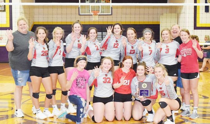 Lady Cardinals took 1st for the 4th year at Verona Volleyball Tournament.