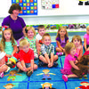 Little Cat Room, Pre-K 3-year-olds: Front row: Ayla Wright, Wyatt DeJager, Bentley Samson, Baylor Bowles, Zoey Davis, Julian Rowe. Back row: Lilly Burgess, Addison Robinson, Journey Dahlman, Chase Spain, Jazmin Morris, Khloe Robinson, Kale McCullough. Teachers: Paula Daniel, Tricia Beach.