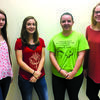 2017 homecoming candidates: (l to r)  freshman, Lexi Goodman; sophomore, Macey Sappington; junior, Alicia Bowman; and senior, Marley Brannon.