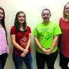 2017 homecoming candidates: (l to r)  freshman, Lexi Goodman; sophomore, Macey Sappington; junior, Alicia Bowman; and senior, Marley Brannon.