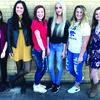 Courtwarming candidates- Princesses, (sophomore) Adreanna Garcia, (junior) Alice Nucibella. Senior queen candidates- Kaydie Pope, Falyn Crutcher, Shay Ferwalt, Casey Short. Not pictured- freshman princess, Delaney White.