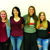 Left to right: Aspen White, Kaylie Gott, Mikayla Louderbaugh, Raylie Hejna, Jaden Argo and Elle Bernet.
