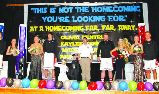 Queen Kaylee and her court