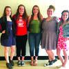Left to right: Jordan Laxton, Jessica Nield, Caitlyn Nunez, CarolAnn Pendergrass, and Ariah Blevins. Not pictured: Haley Sandvos.