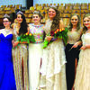 Left to right: 2016 returning Queen, Logan Perdue;  2017 Homecoming Princess, Elle Bernet;  returning 2016 Princess, Juliet Stilley;  2017 Homecoming Queen Raylie Hejna; Aspen White and Jaden Argo.  Candidates not pictured are: Kaylie Gott and Mikayla Louderbaugh