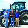 L to R- Kenny Bergmann, Corp. Sales Manager; Eric Schnelle, President; Marcus Madewell, New Holland Territory Representative