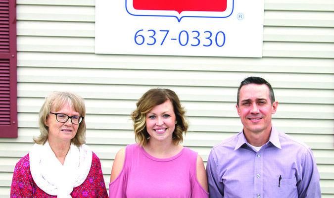 Left to right: Sandy Shepard, Samantha Calvin and  Sean Holman