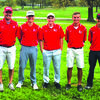 Lockwood Tigers Golf Team, left to right, Coach Jim Scott, Justin Nentrup, William Stefan, Will Beerly and Roy Snider