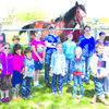 The Greenfield Homeschool group enjoyed their visit at Chadeau Mountain Clydesdale Farm.