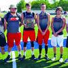 Left to right: Jobe Edwards, Ethan Bates, Brady Waters, Luke Nentrup, Dakota Cooper, Coach McKinney.