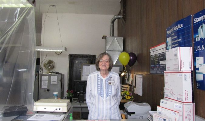 Jennie Cooper, a longtime employee of the United States Postal Service, retired last Friday. (Photo by James McNary)