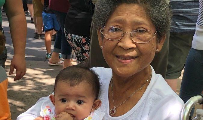 Clara with granddaughter Ava Rose Sagun