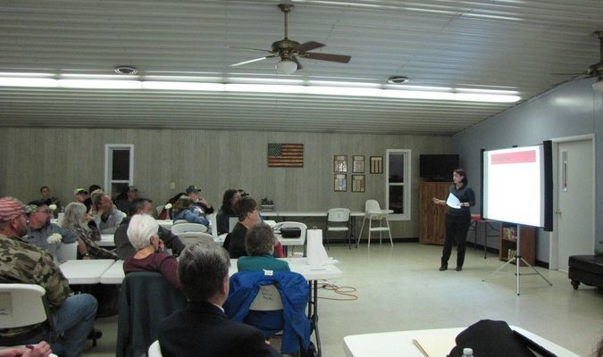 A February 2019 town hall meeting held in the Miller Senior Center is shown in this file photo. The Miller Board of Aldermen recently approved a plan allowing the center to resume offering meal services. (File photo by James McNary)