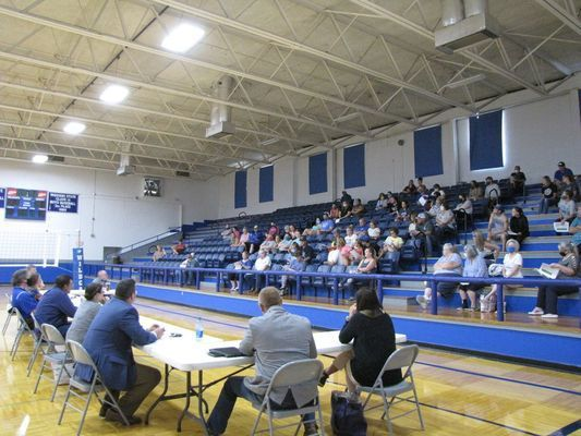 The Greenfield R-IV school board met Aug. 3 to approve a re-entry plan for the next school year. (Photo by James McNary)