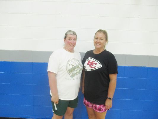Assistant Coach Melissa Hull and Lady Wildcat Coach Marla Kemp.  (Photos by Bob Jackson)