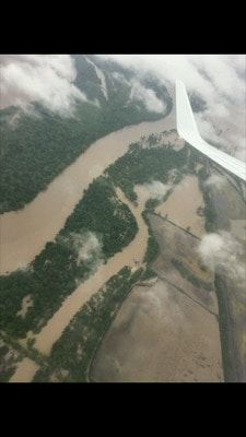 The floods in Missouri where Kailey went to lend assistance with the Red Cross.