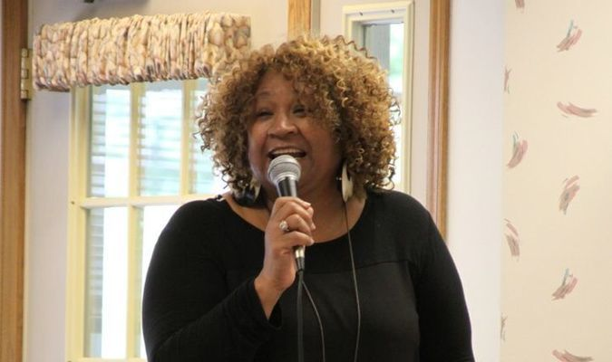 'Simply J.P.' performs one of her musical selections during a recent concert at Terrace Heights Retirement Community in Mauston.