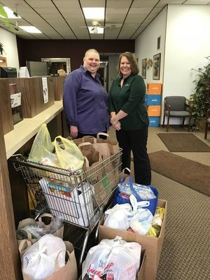 Lyndon Station branch food drive