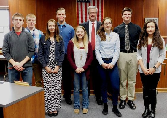 Judge – Honorable Paul Curran Sean McNally (Necedah) Sam Lem (Mauston) Cameron Sprotte (Wonewoc-Center) Kyle Woodward (New Lisbon), International (Foreign Exchange) - Mauston: Emil Vinter Nielsen (Denmark) -  Alexandra Fyfe (Germany) Emily Blazovich (Austria)