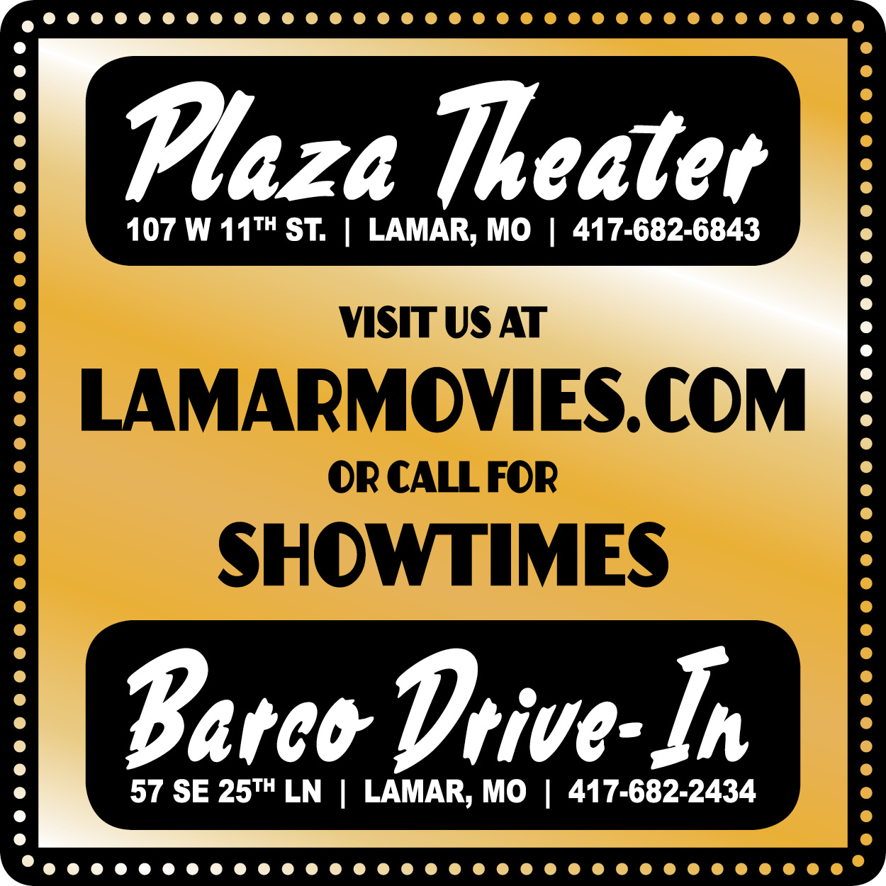 Plaza Theater & Barco Drive-In