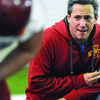 Photo courtesy of the Ames Tribune Brandon Blaney at a practice while coaching at Iowa State.