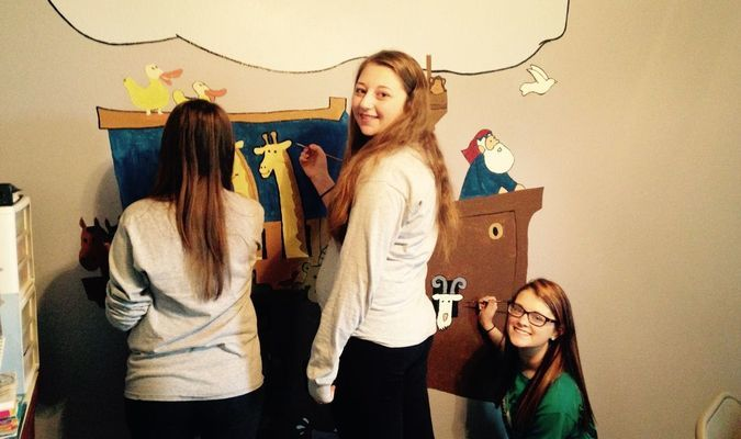 Natalia Stilabower, Emily Ogle and Shea Lewis participated in Senior Service Day on Tuesday, April 19. The three arrived at Liberty Baptist Church at 9 a.m., and helped clean, organize supplies and paint a mural in a classroom. Senior Service Day is a great program that Lamar High School does each year and the church was very thankful for the help these three young ladies provided.