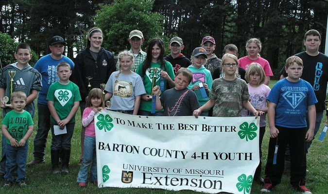 Congratulations to all Barton County 4-H members and Clover Kids for doing a great job! Pictured are, front row, left to right, Jackson Ball, Henry Ball, Lauren Crabtree, Crystal Kahl, Marcy Miller, Bob Burchett, Mikayla Madison, Annabelle Crabtree, Sami Jo Crabtree, Braxtyn Muncy; back row, Ethan Ball, Ben Wilhelm, Halle Miller, Matthew Morgan, Brandon, Overman, Theo Crabtree, Colby Burchett, Michaela Winslow, Clayton Winslow.