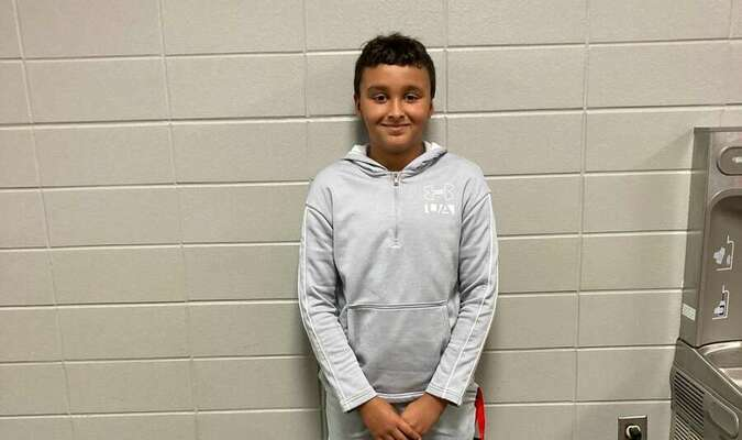Myles Lucas, son of Kara and Eric Lucas, is the sixth grade Lamar Middle School Student of the Week. Myles likes to play with his animals. He plays football, baseball and basketball. He likes math, art, science and playing games with his friends.