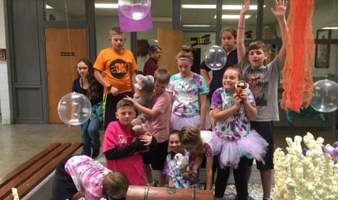 Students enjoyed many activities during the first quarter Tiger Pride reward day.
