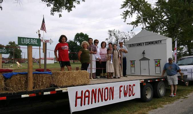 Photo courtesy of Willis Strong Hannon Free Will Baptist Church won first place in the float division at the Liberal Prairie Day Festival held Saturday, Sept. 16.