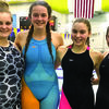 Members of the first Lamar Lady Tiger relay team to earn a trip to state include: from left, Ashley Allen, Emma Moore, Emma Tennal and Meghan Watson.