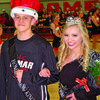 Lamar Democrat/Chris Morrow Seniors Garrett Morey and Jacey Stahl were crowned 2017-18 Lamar High School basketball homecoming royalty Friday before a capacity crowd, prior to the Tigers double overtime loss to Mount Vernon.