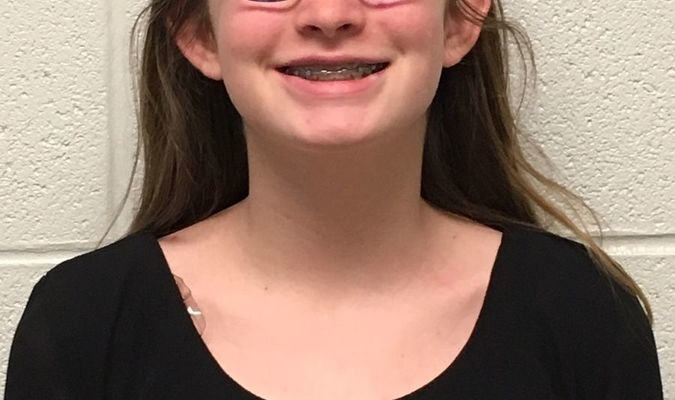 Roni Ogden, daughter of Jen and Justin Ogden, is the eighth grade Student of the Week at Lamar Middle School. Roni plays volleyball and participates in Quiz Bowl and MathCounts. In her spare time she likes to write fiction and do art. Roni loves Algebra and History.