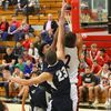 Lamar senior No. 2 Truman Kaderly goes up for a dunk in basketball action at Lamar High School. Kaderly had three dunks on the night to help Lamar defeat Galena.