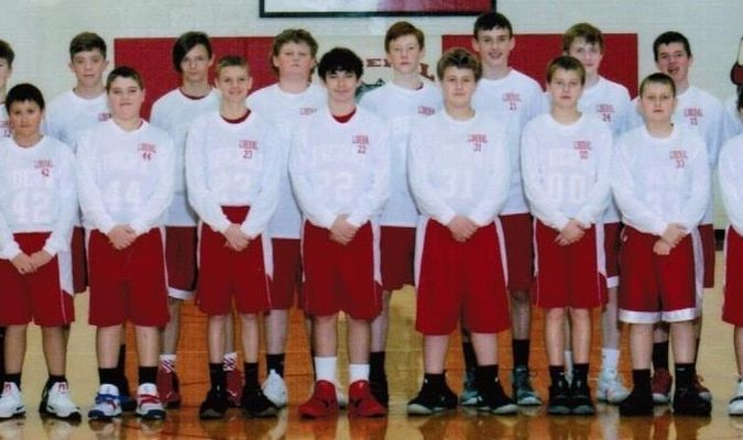 The Liberal Middle School Bulldogs ran the table this year, going 14-0. They won both the Western Missouri Conference title and the conference tournament, outscoring their competition 130-47 in the three tournament contests. The team includes: back row, from left, assistant coaches Luke Rainy, Jaron Hulette, Mason Eyler, Lane Pearson, Christian Amberson, Wyatt Pryor, Kale Marti, Nathan Smith, Payton Morrow, Matt Boehne, Isaac Edwards, Brayden Sanders, head coach Dale Sanders; front row, Kaleb Coleman, Brodie Wilson, Chase Ray, Cameron Peak, Justin Payne, Luke Bott, Nolan Shaw, Quincy Bazal and Brett Leibbrand.