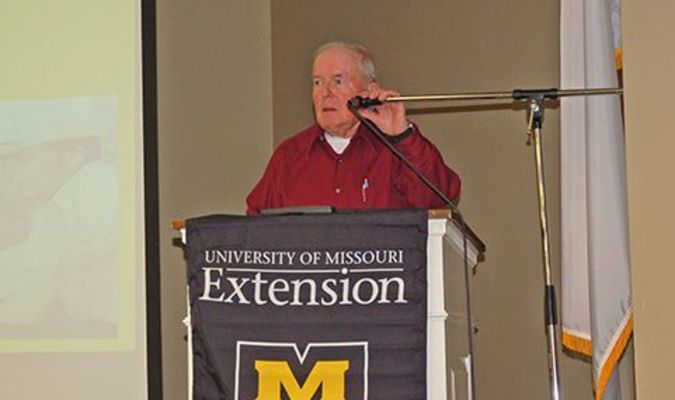 Lamar Democrat/Melody Metzger Calvin Jones was one of the featured speakers as University Extension celebrated 100 years in Barton County.