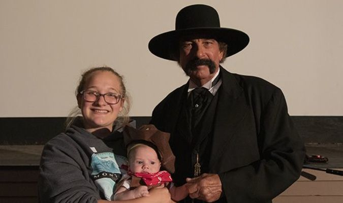 The Grand Champion at the Wyatt Earp Baby Show was Sage Cook, son of Morgan Cook, Lamar.