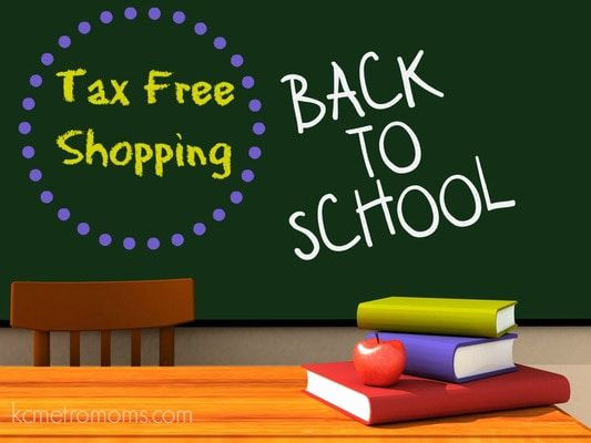 Did you take part of the back to school tax free weekend main
