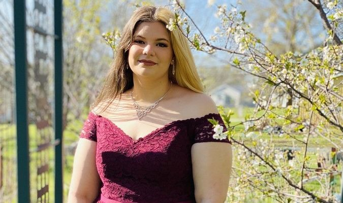 Destiney Poirrier a Junior got all glammed up with her prom dress and did a little photo shoot. Photo courtesy of Lacey and J.C Shumard