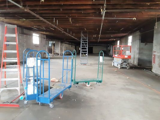 inside the building before construction process starts. photo by Robin Gregg