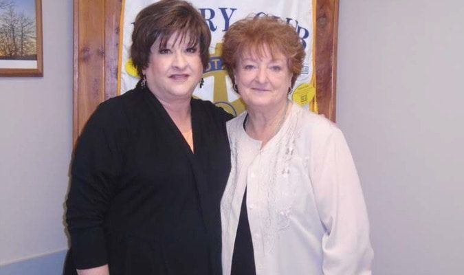 Pictured with Mrs. Hammond (left), is Rotarian Jo Reynolds.