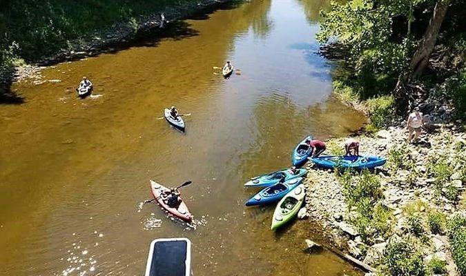 Kayaking on the Elk River