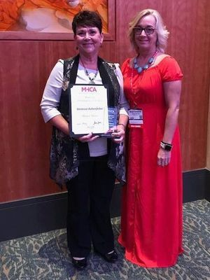 Vanessa Ashenfelter was named the Missouri Health Care Association [MHCA] Employee of the Year [EOTY] during the group's annual convention in Branson, MO Aug. 27.