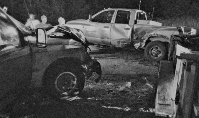 Accident photo by Robin Gregg.